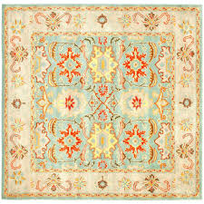 10 Square Area Rugs Safavieh Cambridge Silver Ivory 10 Ft X 10 Ft Square Area Rug
