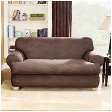 Slipcovers For Sofa Beds by Amazon Com Sure Fit Stretch Leather 2 Piece Sofa Slipcover