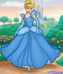 draw cinderella step step disney princesses cartoons