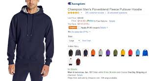amazon champion men u0027s powerblend fleece pullover hoodie 13 99