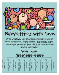 What To Put On A Babysitting Resume Best 25 Babysitting Flyers Ideas On Pinterest Babysitting
