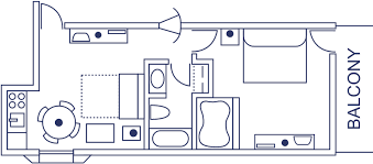 the breakers floor plan king suite with jacuzzi at the breakers resort inn on the virginia
