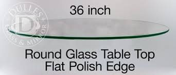 36 inch round tempered glass table top glass table top 36 round 1 4 thick flat edge tempered glass