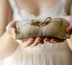 wedding pillow rings burlap ring bearer pillow rustic wedding pillow woodland decor