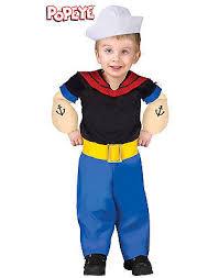 3t Boy Halloween Costumes Popeye Sailor Man Cartoon Toddler Infant Baby Boy Halloween