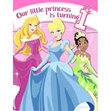 Princess Birthday Invitation Cards Disney Princess First Birthday Party Birthday Wikii
