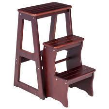 wood step stool ebay