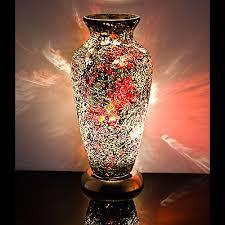 Mosiac Vase Gold U0026 Crimson Mosaic Vase Lamp Be Fabulous