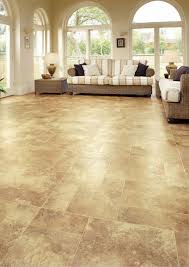 brown color luxury vinyl wood flooring for large living room with