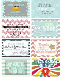 random acts of camp kindness girls camp free printables girls