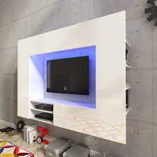 Beleuchtung Wohnzimmer Fernseher Wohnzimmer Möbel Weiß Hochglanz Unterhaltung Schwerpunkt Led Tv