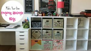 Canvas Storage Bins Make Your Own Cute Canvas Storage Bins Youtube