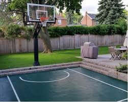 Building A Backyard Basketball Court Backyard Basketball Courts Houzz
