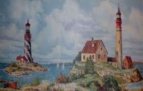 nautical lighthouse wallpaper border for bathrooms discount