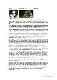adele biography english adele biography worksheet free esl printable worksheets made by