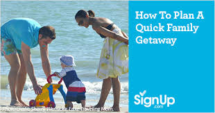 how to plan a family getaway signup