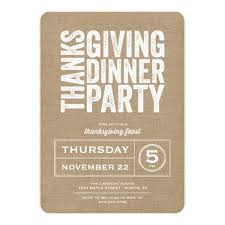 Dinner Party Invitations Rustic Burlap Thanksgiving Dinner Party Invitation Card
