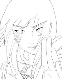 hinata and eye byakugan naruto coloring pages pinterest