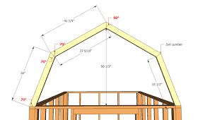gambrell roof gambrel roof barn plans vip building plans online 62872