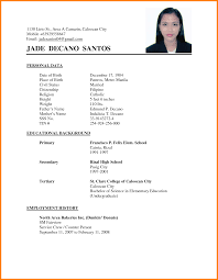 simple sample of resume 7 resume example filipino warehouse clerk resume example filipino curriculum vitae sample for thesis philippines cover letter resume examples simple example png