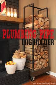 plumbing pipe firewood holder the cavender diary