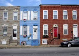 Row Homes | south baltimore row homes greeting card for sale by brian wallace