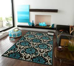 livingroom rugs amazon com large luxury contemporary rugs 8x11 blue rugs for