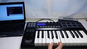 ammoon panda 25 25 key teclado controlador midi usb 8 pads de