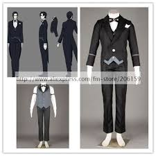 Black Butler Halloween Costumes Anime Black Butler Cosplay Black Bulter Claude Faustus Cosplay