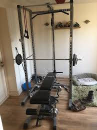 Weight Bench Package Ryno Power Rack Squat Cage Weight Bench Combo Package Machine