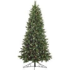 corner christmas tree hill farm 6 5 ft pine half wall or corner christmas tree