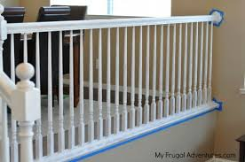 Replacement Stair Banisters How To Paint Stairwells My Frugal Adventures