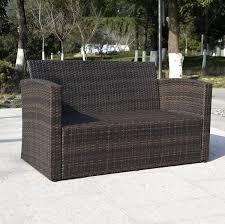 Outdoor Patio Furniture Set - 4pc wicker sofa outdoor patio furniture set
