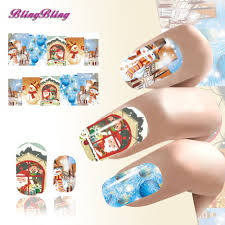 2pcs xmas design nail art tip christmas santa claus snow man nail