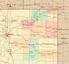 Maps Colorado Northeast Colorado Map Colorado U2022 Mappery