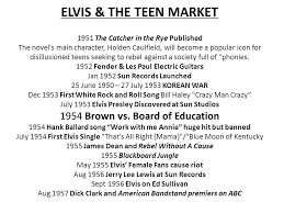 Theme Song For Seeking Elvis The Market 1951 The Catcher In The Rye Published The
