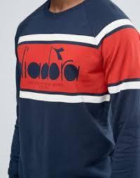 mychicpicks diadora sweatshirt with retro large logo find and