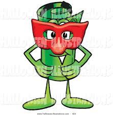 halloween clip art of acute rolled money mascot cartoon character