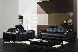 canap cuir noir 3 places canapé en cuir 3 places mahe