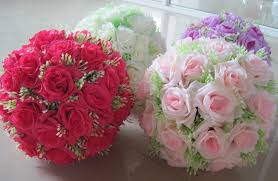 12 30cm artificial silk flower centerpieces white