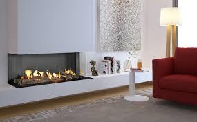 linear frameless modern fireplace