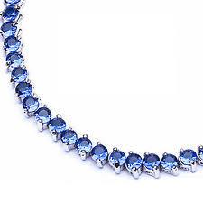 blue sapphire sterling silver bracelet images Blue sapphire silver bracelet ebay jpg