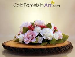 roses centerpieces pale roses centerpiece cold porcelain ready to ship meylah