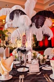 white ostrich feather centerpieces gorgeous dining room outdoor long dinning table decoration for
