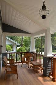 front porch porch craftsman with wicker furniture globe pendant light