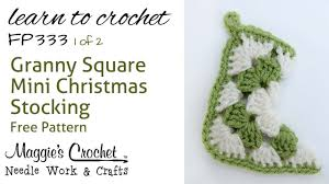 crochet how to free pattern granny christmas stocking part 1 of