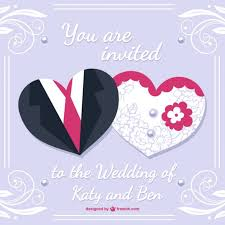 card from to groom and groom wedding card desing vector free