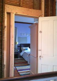 second floor hallway update shifted bedroom door electrical hallwayprogress4 shifteddoor