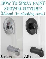 Spray Paint Bathroom Fixtures How To Spray Paint Shower Fixtures Easy Diy Method Bless Er House
