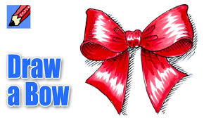 christmas ribbons and bows how to draw a christmas bow